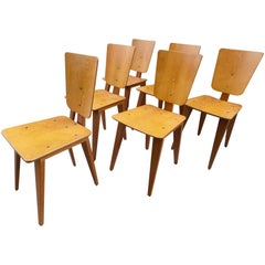 Beautiful Set of Six Andre Sornay Chairs, circa 1960