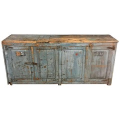 Industrial Workshop Cabinet with Great Patina