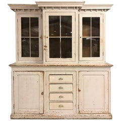 Big French Antique High Buffet Cabinet, 19th Century
