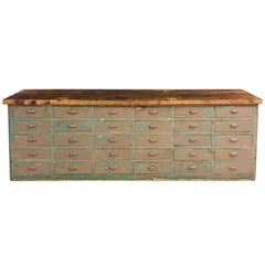 Big Bank of Drawers with Oak Top