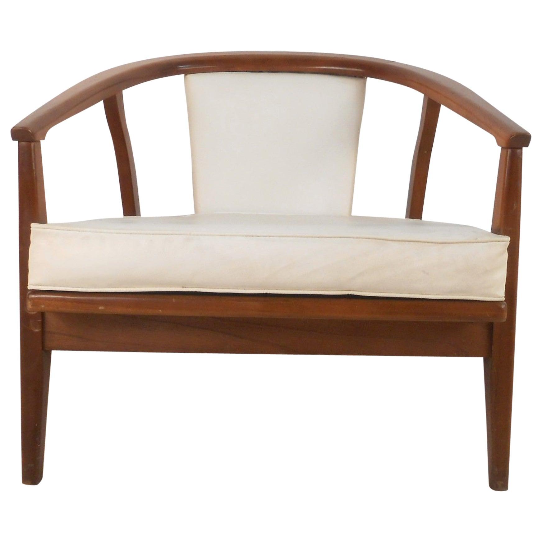 Unique Mid-Century Modern Barrel Back Side Chair