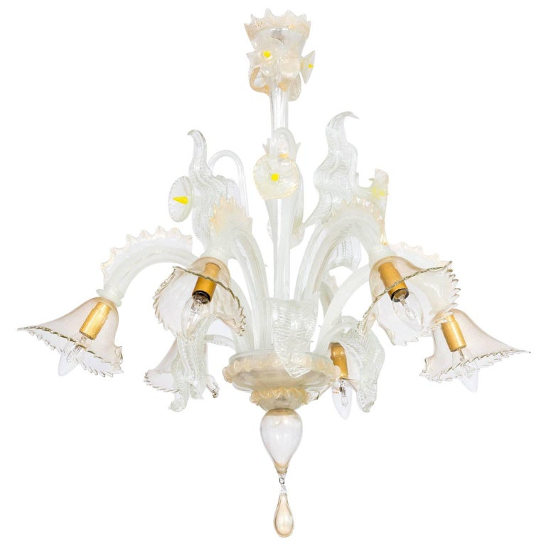 Italian blown Murano Glass Chandelier attributed to Cenedese, 1970s