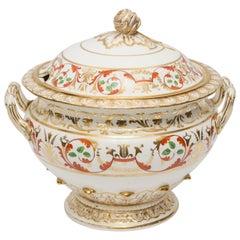 Antique English Porcelain Derby Soup Tureen
