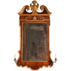 18th Century Walnut Parcel-Gilt Mirror