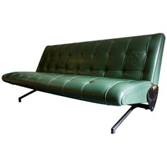D70 Sofa in Leather by Osvaldo Borsani for Tecno