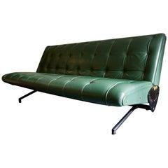 D70 Sofa in Leather by Osvaldo Borsani for Tecno