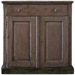 19th Century Pink Chippy Painted Swedish Cupboard