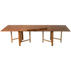 Rare Early Bruno Mathsson ''Maria Flap'' Dining Table in Oak