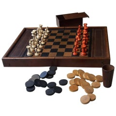 20th Century French Chess and Backgammon Game, 1940s