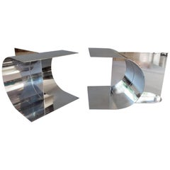 Stainless Steel Sculpture Tables
