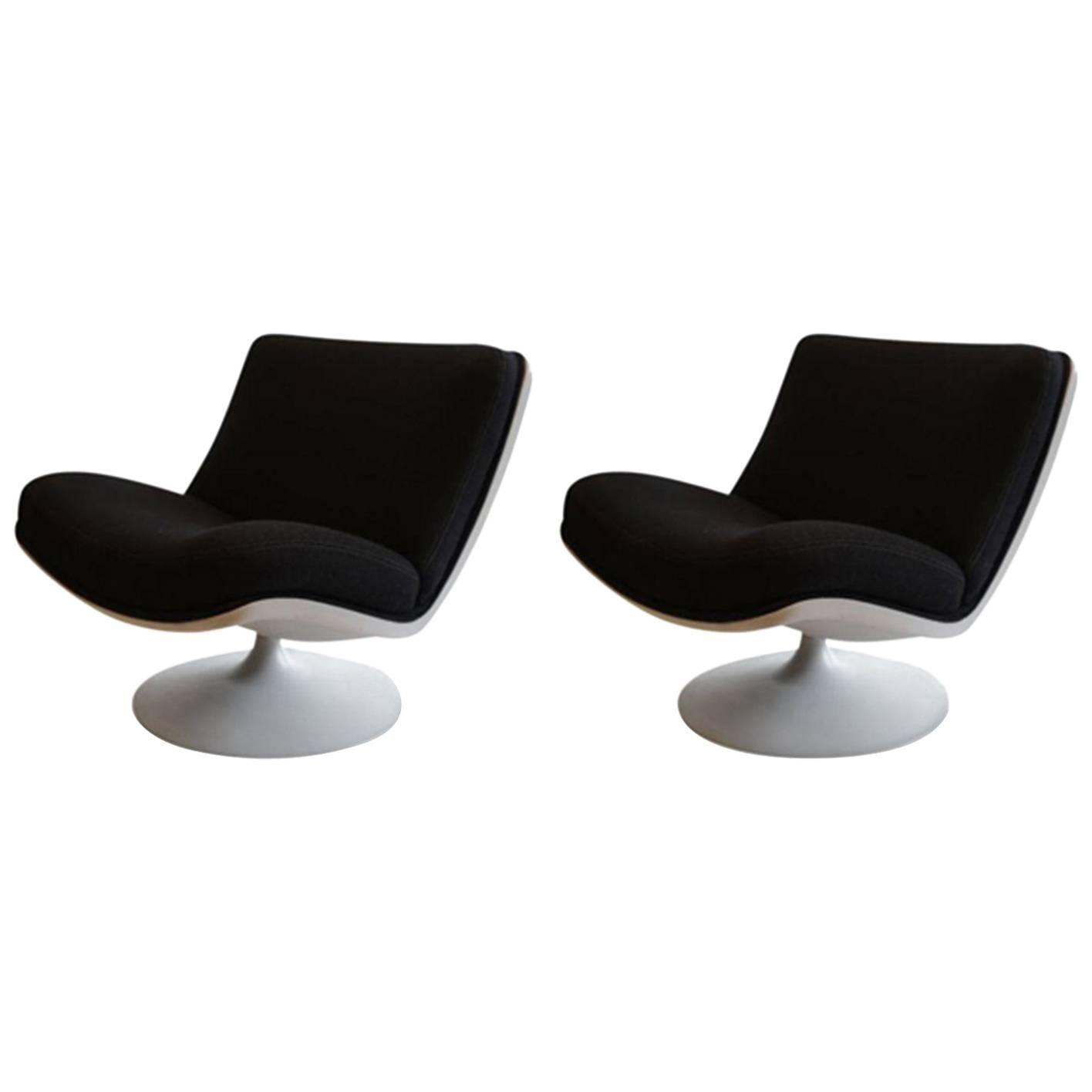 Geoffrey Harcourt For Artifort Vintage F978 Swivel Chairs