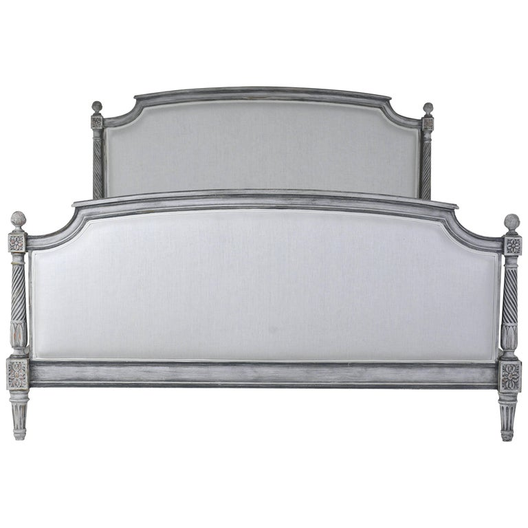 French Louis XVI-Style Full Size Painted Bed Frame