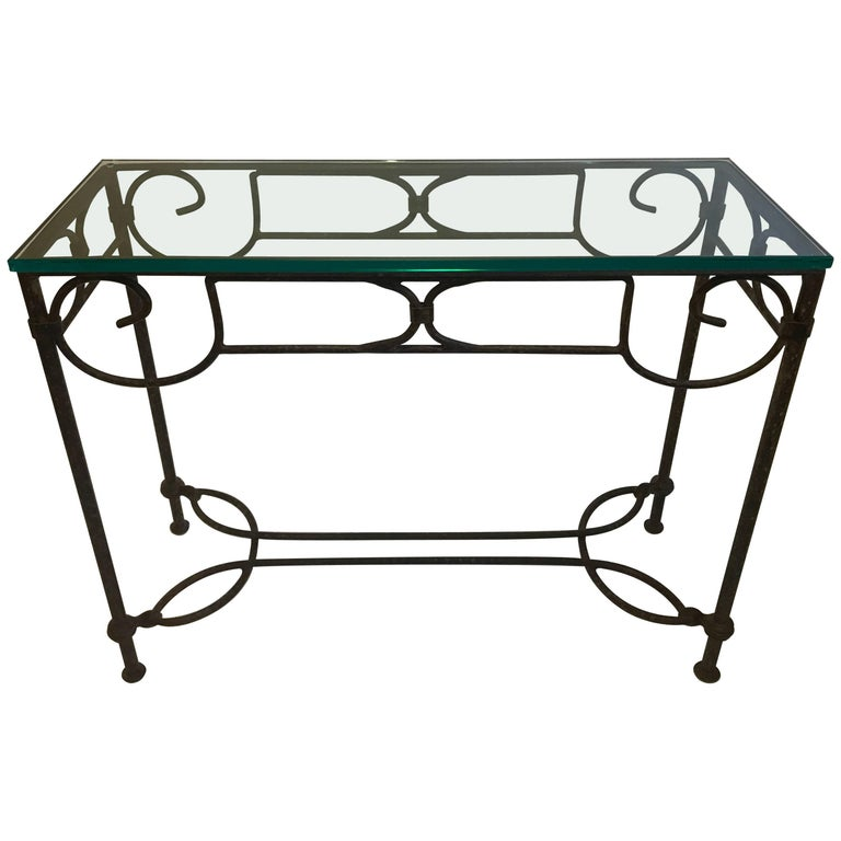 Wrought Iron Console Table For Sale At 1stdibs