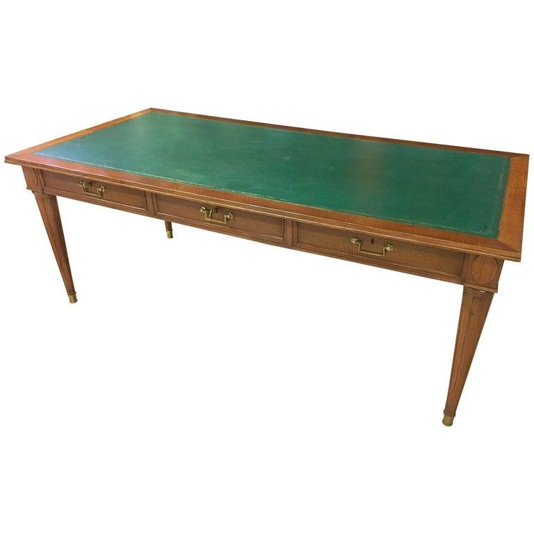 louis xvi style bureau plat circa 1940 signed nordiska for sale at 1stdibs. Black Bedroom Furniture Sets. Home Design Ideas