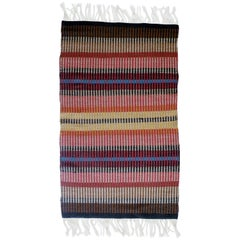 California Craft Linear Abstract Woven Textile Bauhaus Inspired Rug