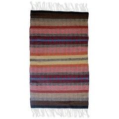 California Craft Linear Abstract Woven Textile Bauhaus Inspired Rug