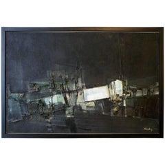 "Pawel ""Paul"" August Kontny Abstract Dimensional Painting Colorado Artist"
