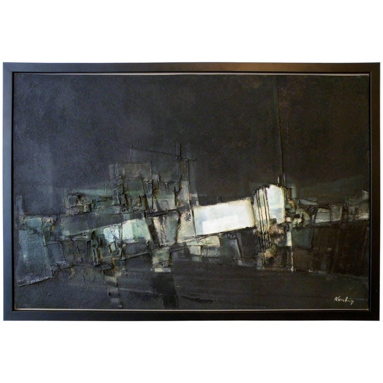 """Pawel """"Paul"""" August Kontny Abstract Dimensional Painting Colorado Artist For Sale"""