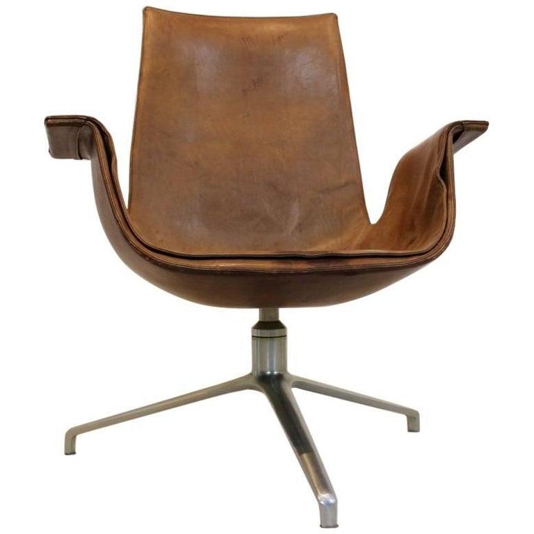 Original Fabricius and Kastholm Kill FK 6727 Tulip Swivel Chair, Denmark, 1960s