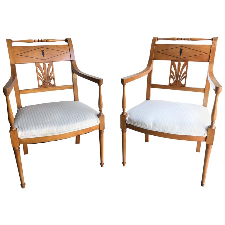 Pair of Biedermeier-Style Armchairs