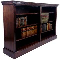 Late Victorian Walnut Double Open Bookcase