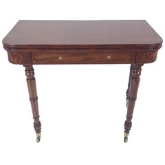 Regency Mahogany Fold over Games Table in the Manner of Gillows