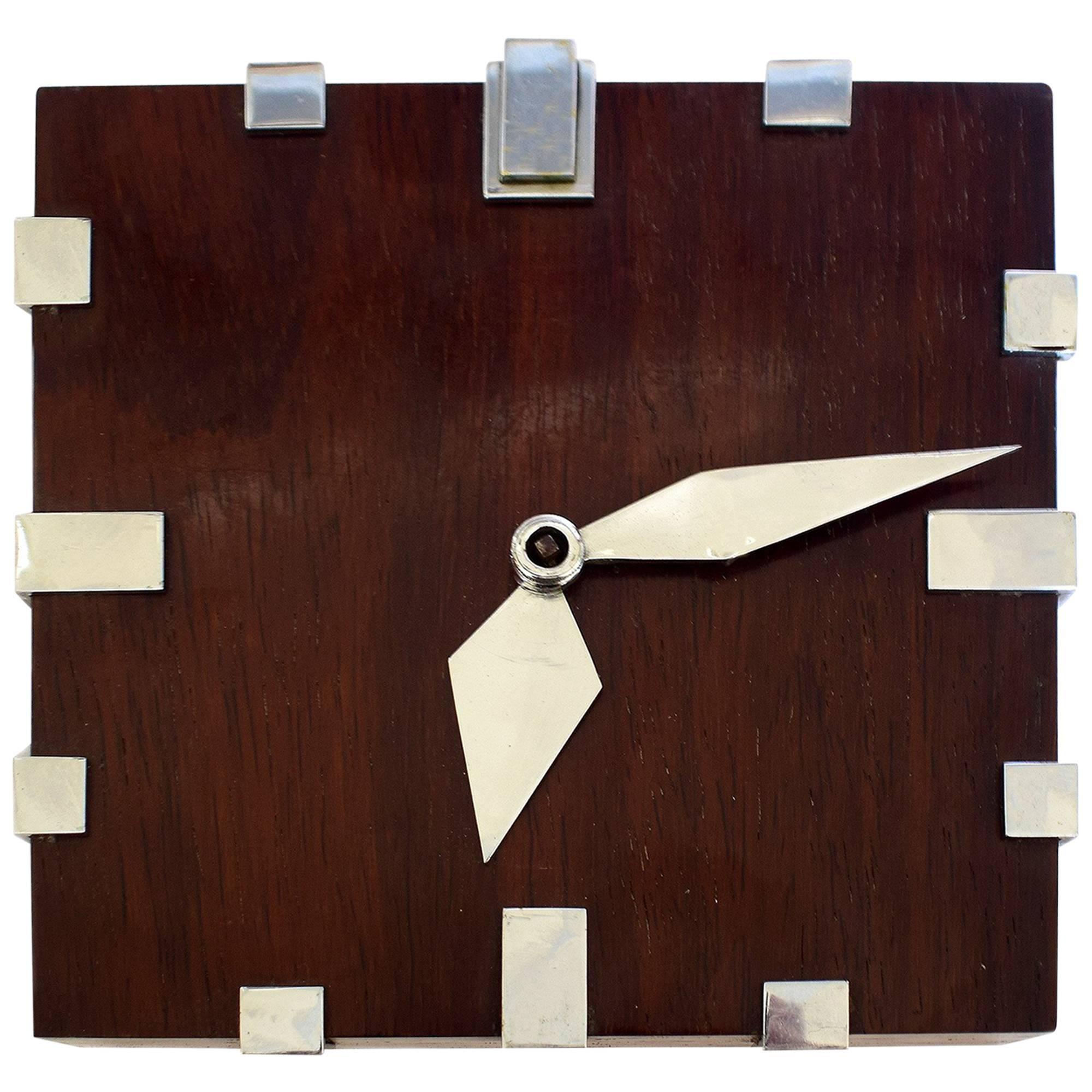Rare Modernist 1930s Wall Clock 18 Day Movement