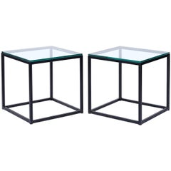 Midcentury Geometric Cube Tables