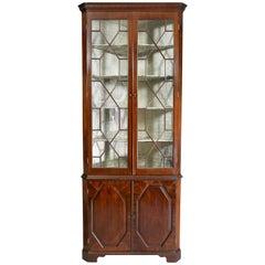 George III Mahogany Corner Cabinet