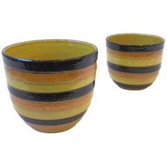 Pair of Italian Ceramic Planters by Bitossi for Rosenthal
