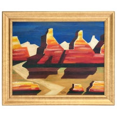 """High Desert"" Modernist Painting by Conrad Buff"