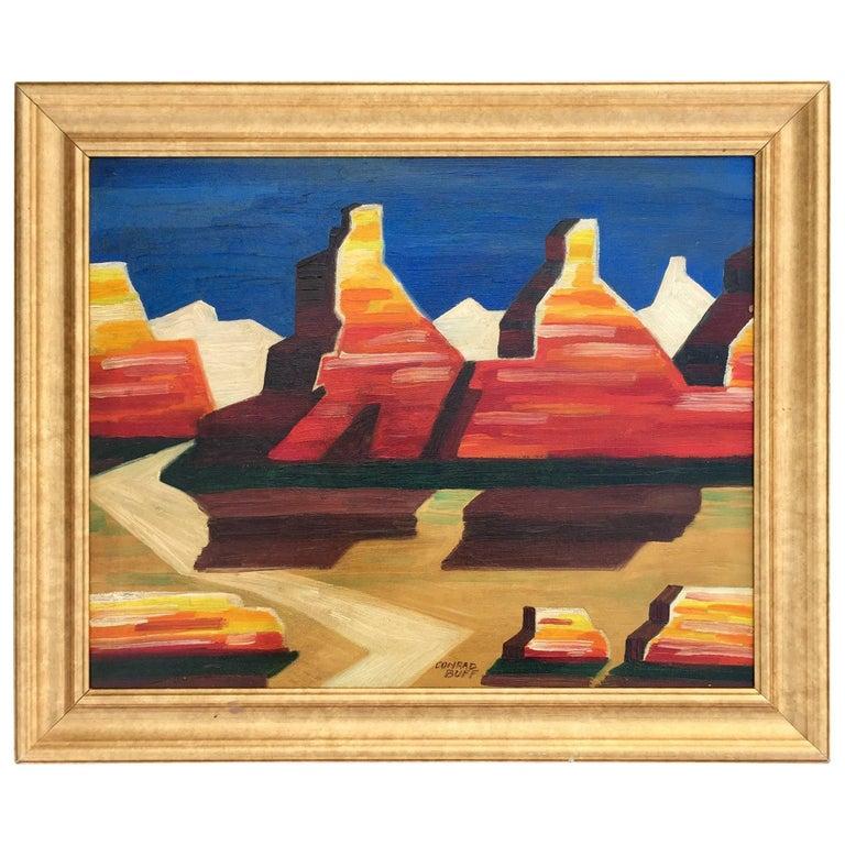 """High Desert"" Modernist Painting by Conrad Buff"