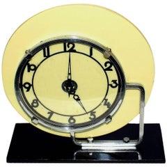 Art Deco Modernist English Clock by GEC