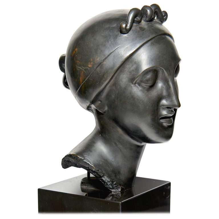"""Ideal Head"" Bronze by Elie Nadelman For Sale"