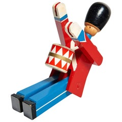 Hand-Painted Wooden Danish Royal Guardsman by Kay Bojesen