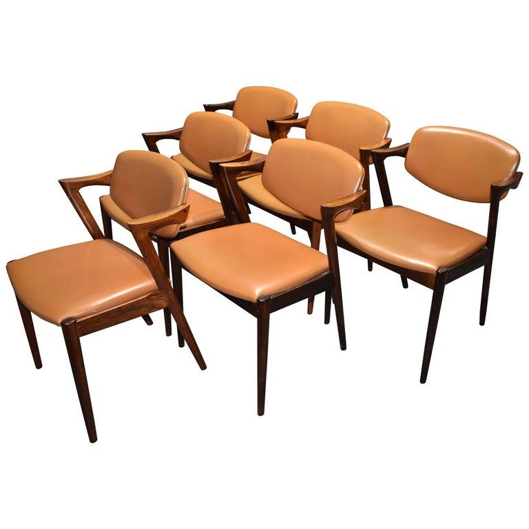 Kai Kristiansen Rosewood Dining Chairs Model 42