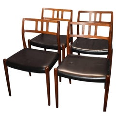 Niels Otto Møller Rosewood Dining Chairs Model 79