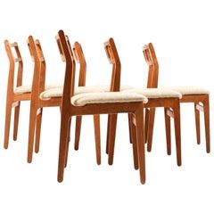 Set of Six Danish Teak Dinner Chairs