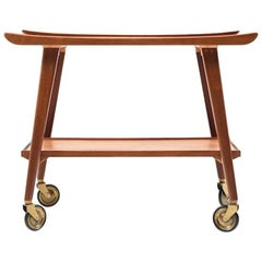 Midcentury Danish Service Trolley in Teak