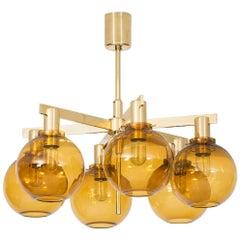 Hans-Agne Jakobsson Ceiling Lamp Model T-348/6 by Hans-Agne Jakobsson AB