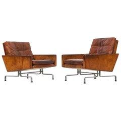 Poul Kjærholm PK-31 Easy Chairs by E. Kold Christensen in Denmark