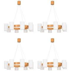 Uno & Östen Kristiansson Ceiling Lamps Model 587 by Luxus in Sweden