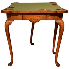 18th Century Irish Walnut Card Table