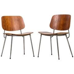 Børge Mogensen Dining Chairs by Søborg Møbler in Denmark
