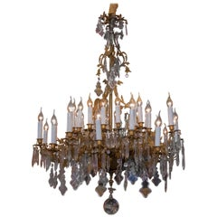 Monumental Chandelier, Ormolu and Crystal, French Napoleon III Period circa 1850