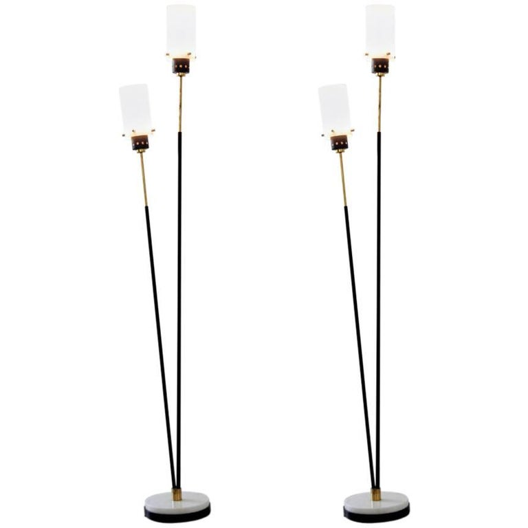Pair of Italian Floor Lamps by Stilnovo, 1960s For Sale