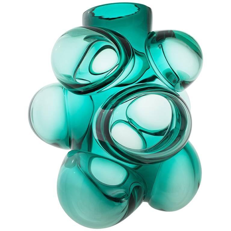 Jade Cumulo Barrel Vase by Siemon & Salazar