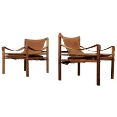 Pair of Arne Norell Easy Chairs Model Sirocco, 1960s