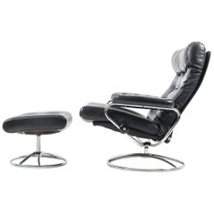 Stressless Lounge Chair and Ottoman by Ekornes