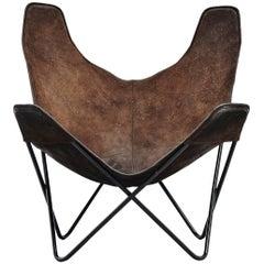 Jorge Hardoy Ferrari Butterfly Chair Brown for Knoll, 1970